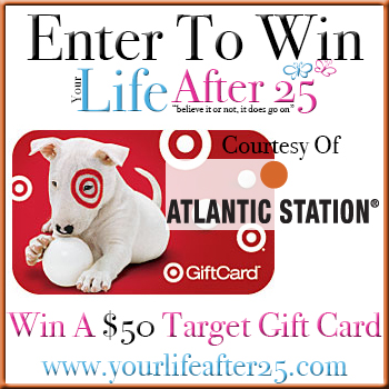 Target Atlantic Sweep Enter @YourLifeAfter25s $50 Target Gift Card Sweep! Sponsored By @AtlanticStation! #Atlanta