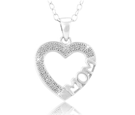 Mothers Day Gift Diamond Accent Heart Mom Pendant in Sterling Silver Deals of the Week: Mom Diamond Pendant, Lexmark Printer, Zumba 2 for Wii, and More