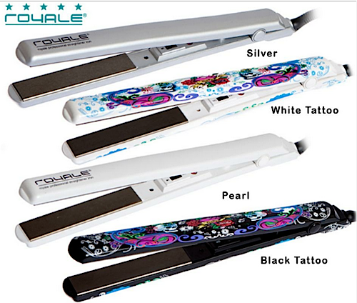 Royale Limited Edition Slim Line Professional Ceramic Straightener Iron - Heats Up in 20 Seconds