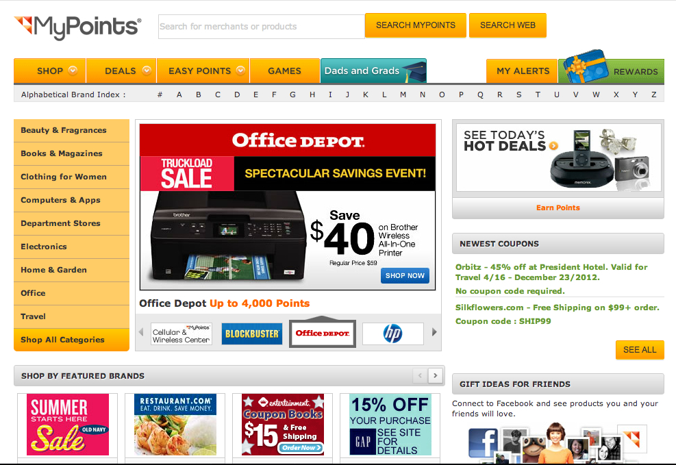 MyPoints Get Great Offers & Deals From Your Favorite Stores With MyPoints!