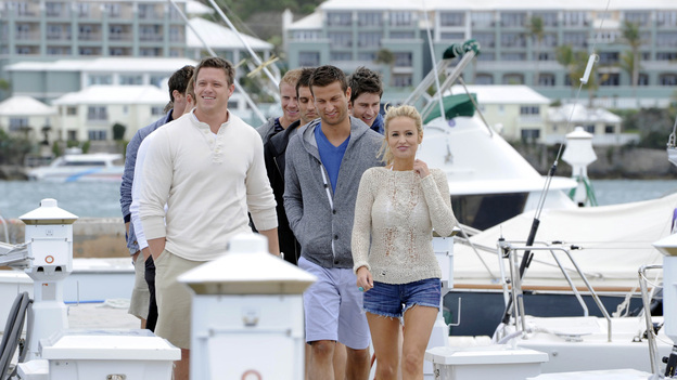Emily and men THE BACHELORETTE SEASON 8  WEEK 4  A One on One, 2 on 1 and Group Date In Bermuda!