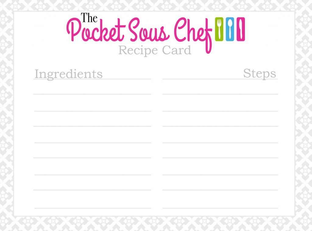 The Pocket Sous Chef recipe card