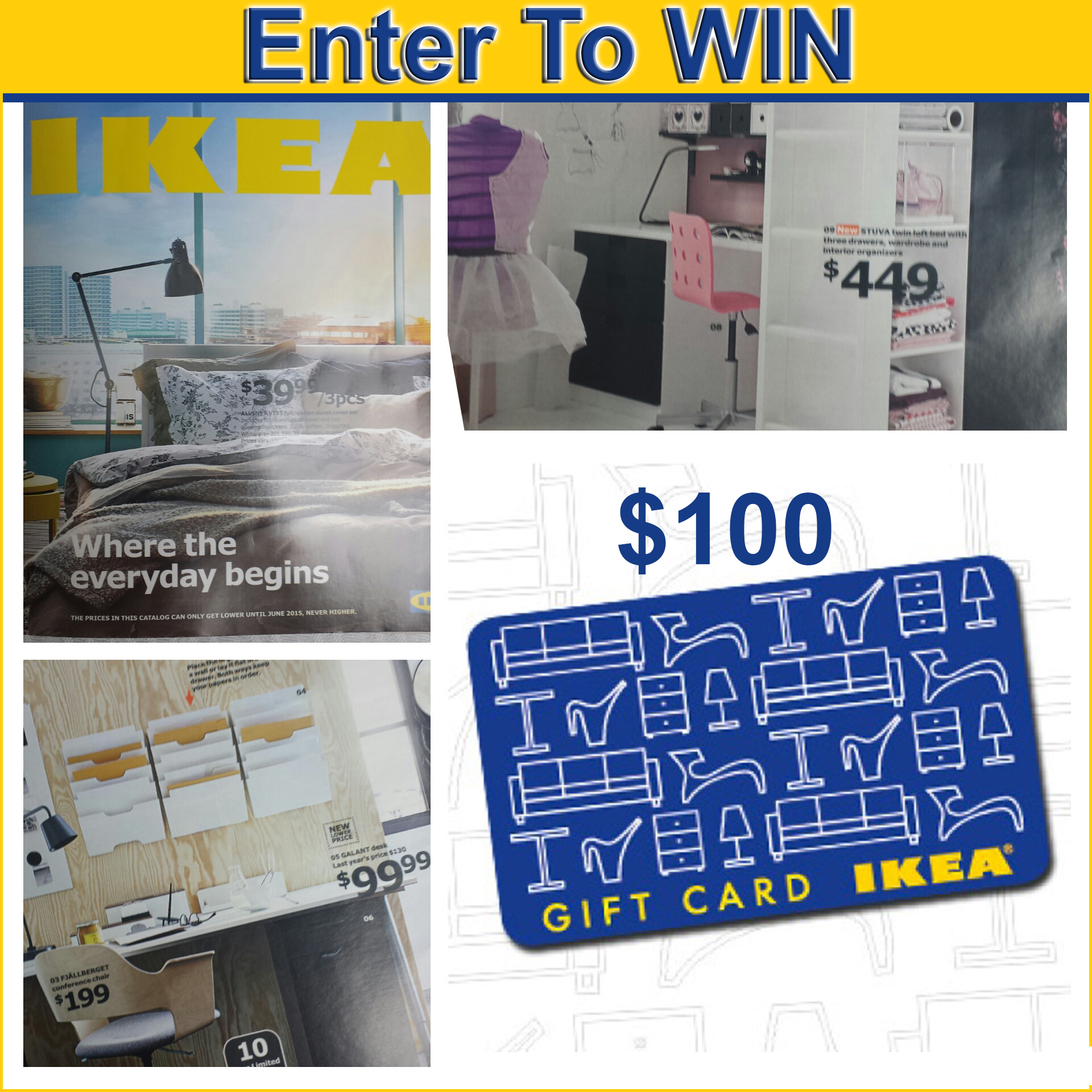 ikea 2015 catalog is here win a 100 ikea gift card. Black Bedroom Furniture Sets. Home Design Ideas
