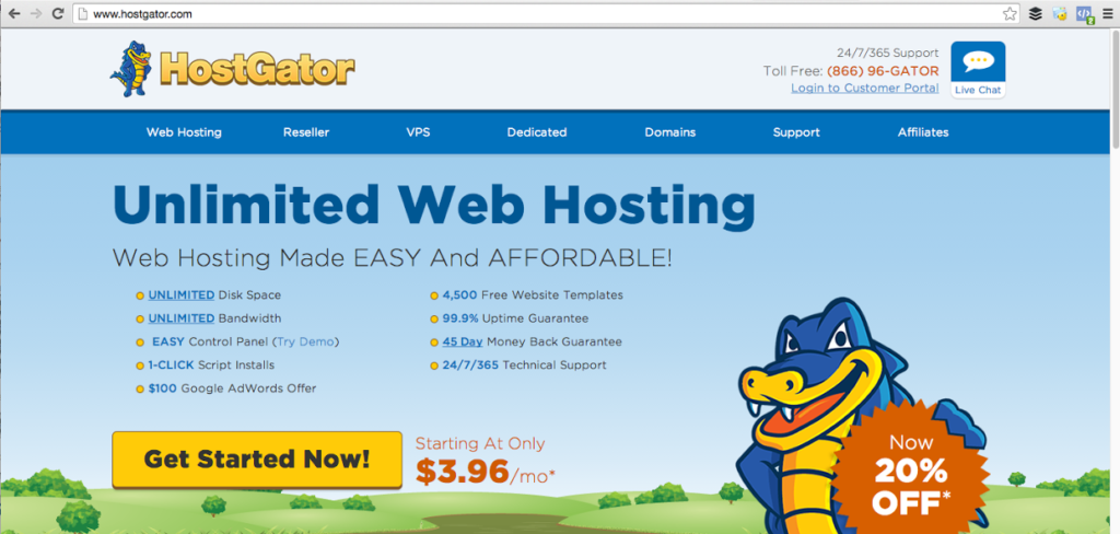HostGator Website