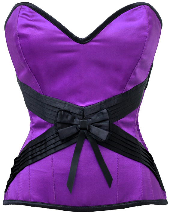 Seduction Embrace Violet Purple-Black Corset