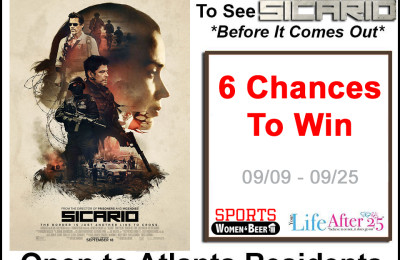 Win 2 Passes To An Advanced Screening of SICARIO (Atlanta only)