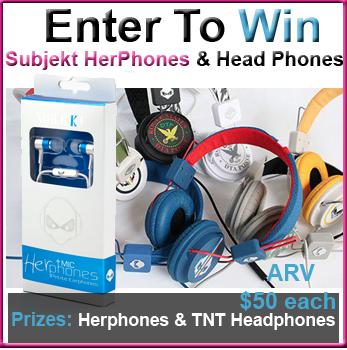 Enter To Win Subjekt HerPhones For Women or TNT Headphones 03/21-04/01