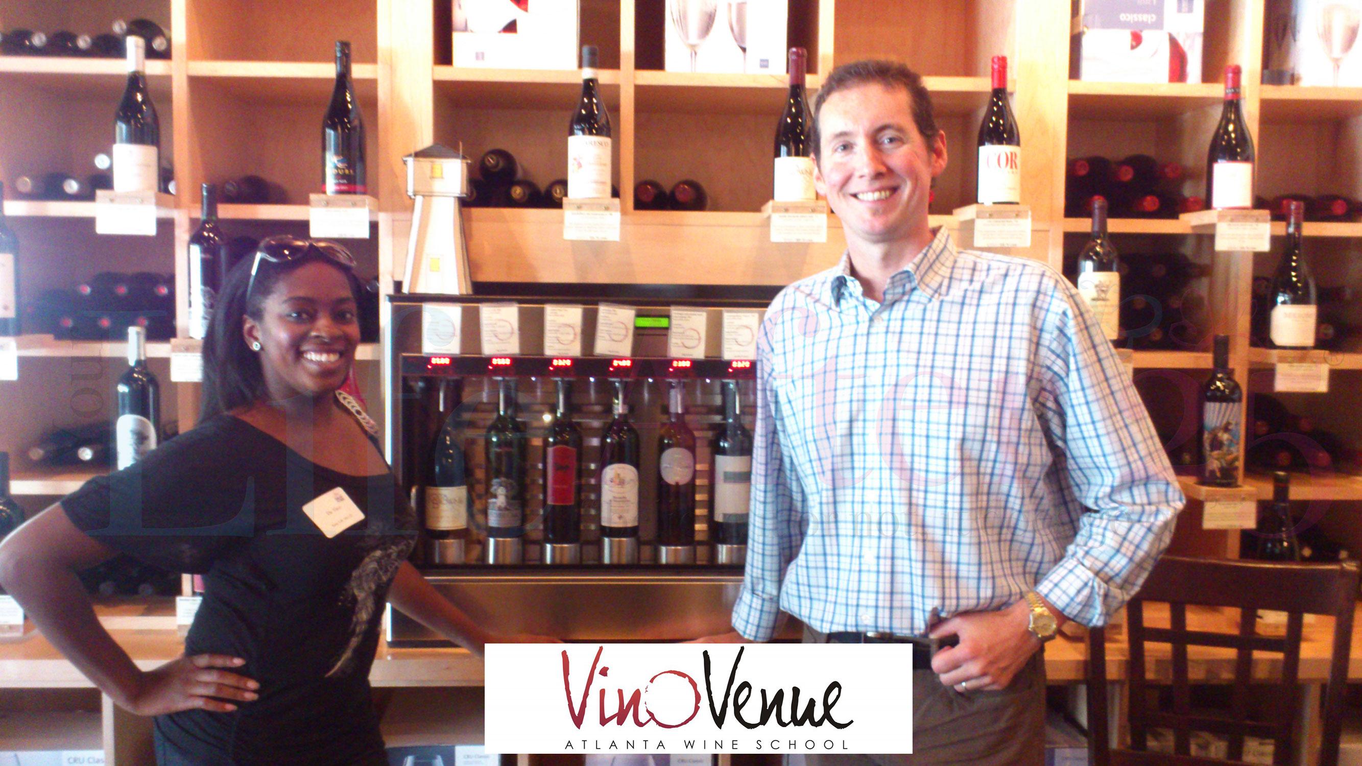 Da-Vinci-and-Michael-Bryan owner of Vino Venue Wine School Wine Bar in Atlanta