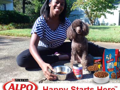 Khole-tries-ALPO-Dog-Food-Happy-Starts-Here dog food purina ALPO