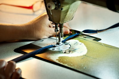 sewing machine, sewing clothes
