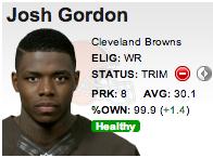 Player of the week Josh Gordon