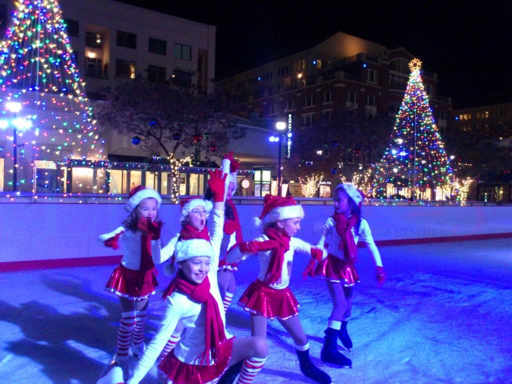 Junior champion ice skaters