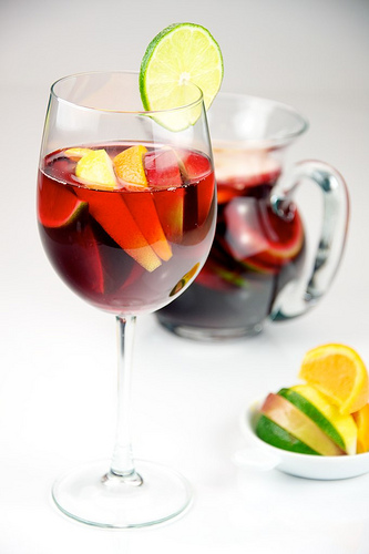 Sangria red wine fruit
