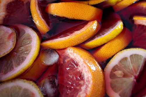 Sangria wine cocktails