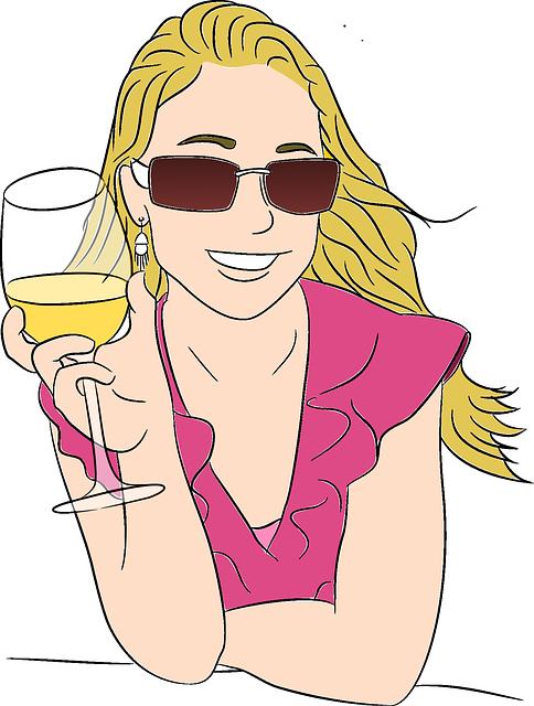 women drinking wine health