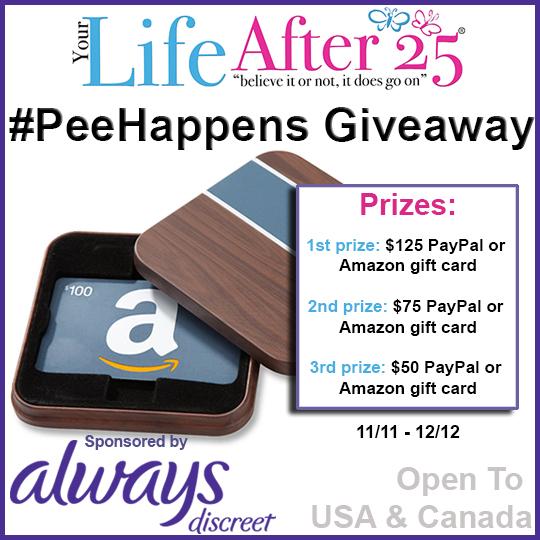 PeeHappens Giveaway Always Discreet