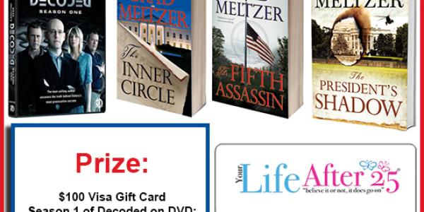BRAD MELTZER prize pack giveaway