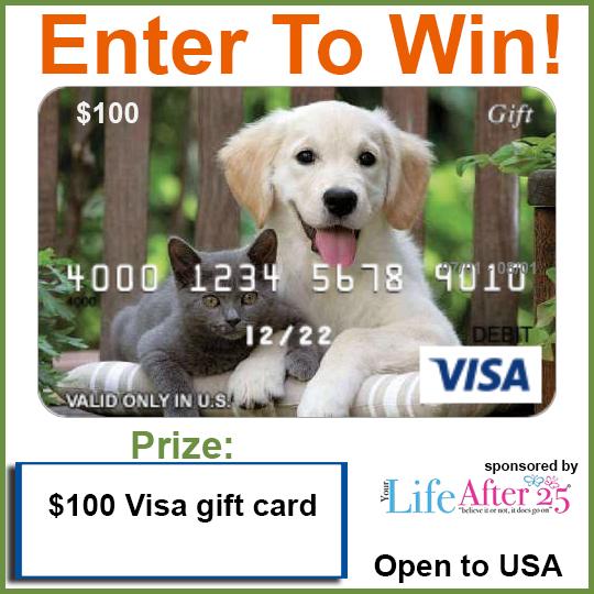 Enter Your Life After 25's Pet Parents #Furgiveness $100 Visa #Giveaway!