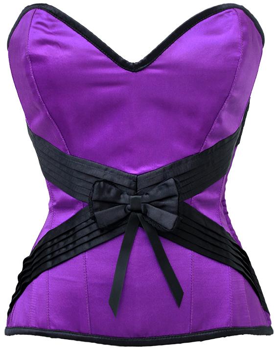 Seduction Embrace Violet Purple-Black Corset
