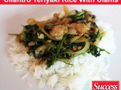 Cilantro Teriyaki Jasmine Rice With Clams