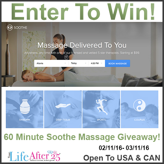 Pamper Your Partner: Give The Gift Of A Soothe Massage! #Giveaway