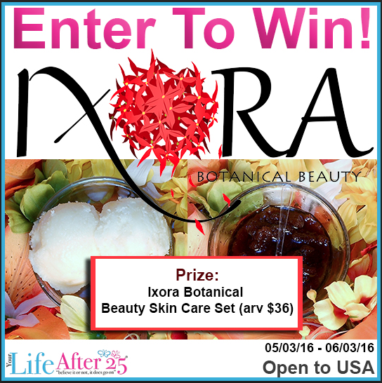 Enter To Win: Ixora Botanical Beauty Skin Care Set Giveaway!