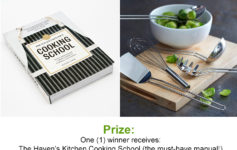 Enter To Win: Your Life After 25's Haven's Kitchen Cooking School Prize Pack Giveaway!